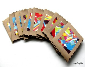 Recycled Wrapping Papers Thank You Cards
