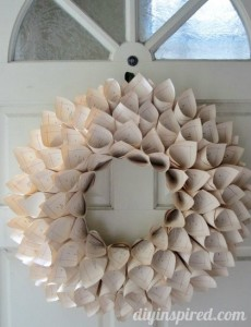 Awesome Recycled Book Pages Wreath