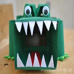 DIY Alligator Affirmation Box Face