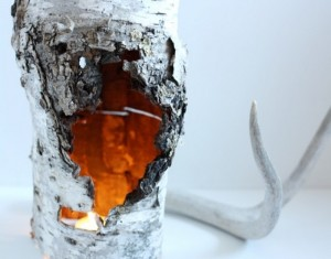 DIY Recycled Wood Candle Holder