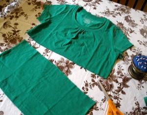 DIY Repurposed T Shirt Dress