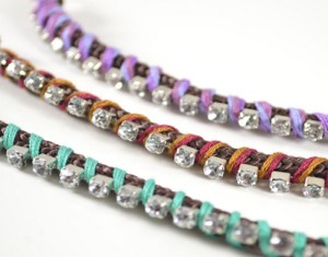 DIY Rhinestone Wrapped Bracelet Designs