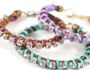 DIY Rhinestone Wrapped Bracelet Ideas