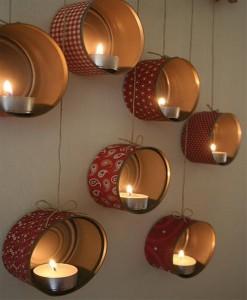 DIY Tins Beautiful Candle Lights