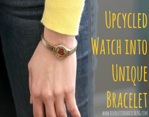 DIY Upcycled Watch into Unique Bracelet