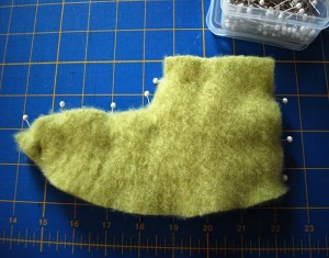 Fuzzy Bunny Slipper From Recycled Material