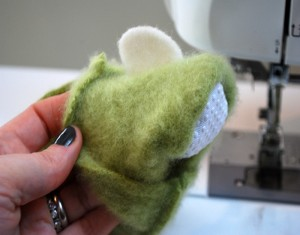 Fuzzy Bunny Slipper from Recycled Felted Sweater for Kids Ideas