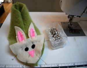 Fuzzy Bunny Slippers From Recycled Felted Sweater Crafts
