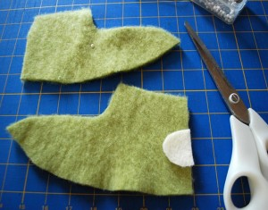 Fuzzy Bunny Slippers Ideas From Recycled Material