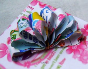 Paper Bow Through Recycling Art
