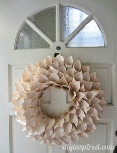 Recycled Book Pages Wreath