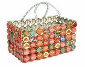 Recycled Bottle Caps Bag