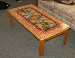 Recycled Bottle Caps Table Ideas