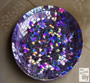 Recycled DVDs Table Top
