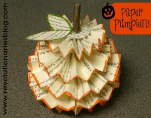 Recycled Paper Pumpkin