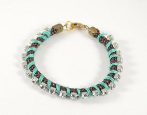 Rhinestone Wrapped Bracelet Designs