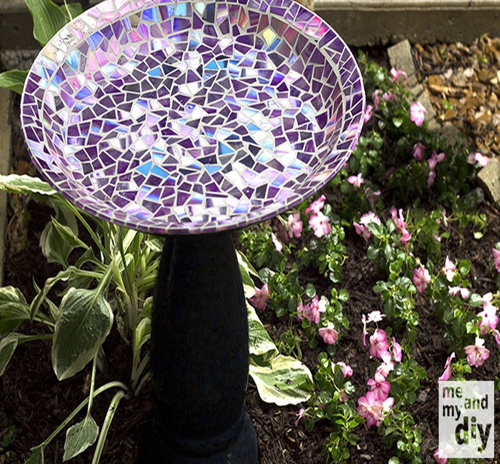 Table Top using Recycled DVDs Idea