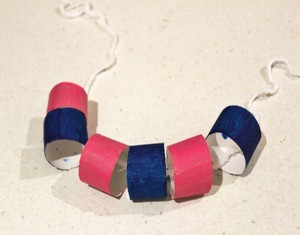 Toilet Roll Neckles Jewelry Crafts