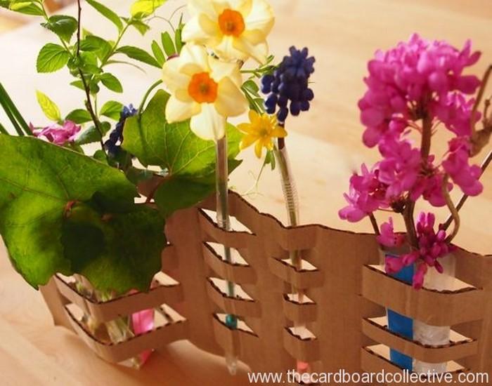 Woven Cardboard Vase