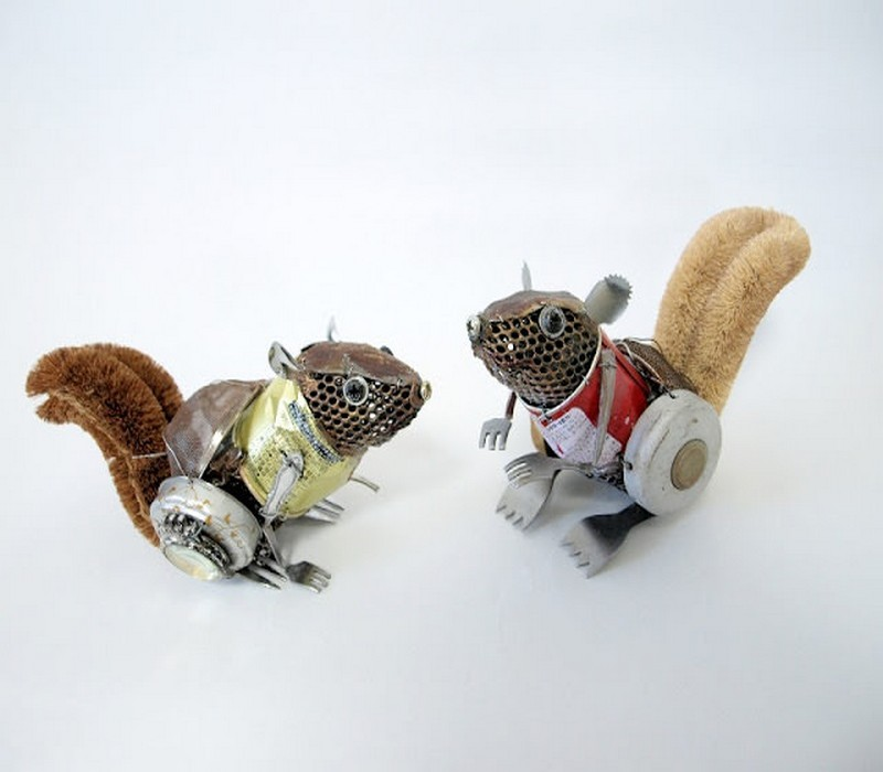 Animals Sculptures made From Recycled Material