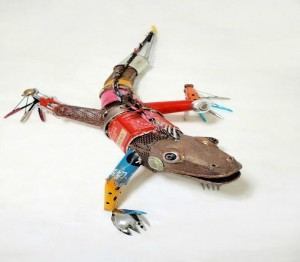 Animals made from Recycled Material