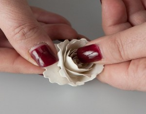 Beautiful Hanmade Seeded Paper flower