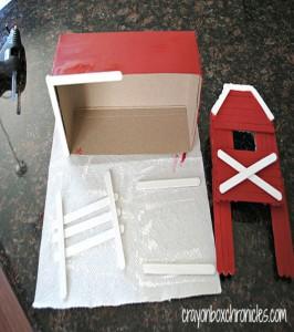 Cardboard and Sticks