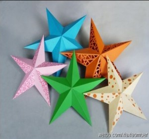 DIY Crafts or Paper Stars Excellent for Party or Function