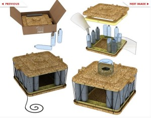 DIY Pet House from Recycled Bottles