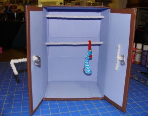 DIY Recycled Material Doll Closet