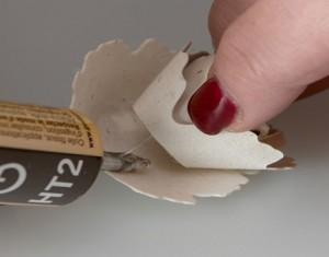 Handmade Seeded Paper flower Idea