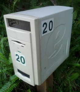 Old Computer Tower As a mail Box