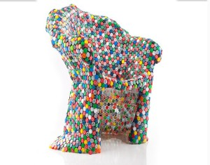 Recycled Bottle Caps Chair