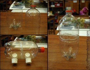 Recycled Bottles Piggy Bank