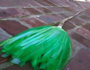 Recycled Bottles Witch Broom