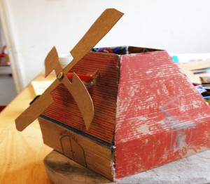 Recycled Cardboard Windmill