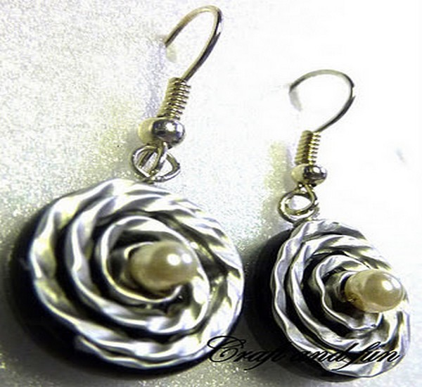 Recycled Coffee Capsules Earrings