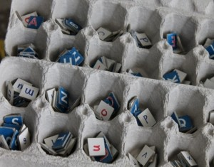 Recycled Egg Cartons Alphabet Holders