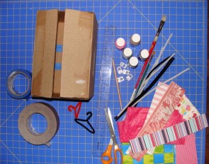 Recycled Material Doll Closet Idea