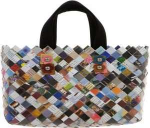 Recycled Paper Magazine Bag