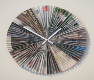 Recycled Paper Magazine Clock