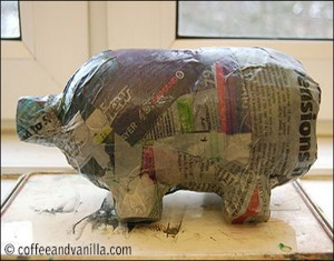 Recycled Plastic Bottles Piggy Bank