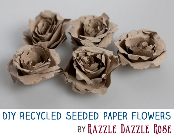 Recycled Seeded Paper Flowers