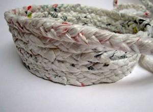 Recycling Idea Nylon Bag Convert to Handmade Basket