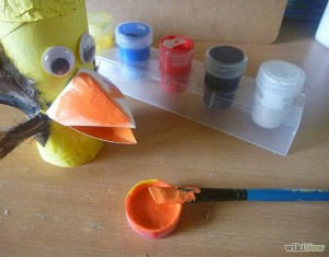 Toy Bird With Recycled Toilet Paper Tubes
