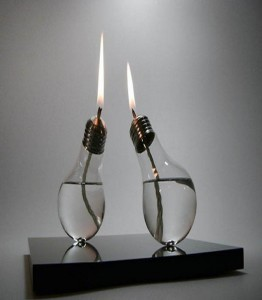 Upcycle Old Light Bulbs Into Candles