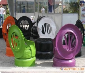 DIY Old Tires Chair