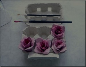 DIY Amazing Pink Rose from Egg Box