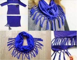 DIY Scarves Ideas Recycled Old T-shirts & Sweaters