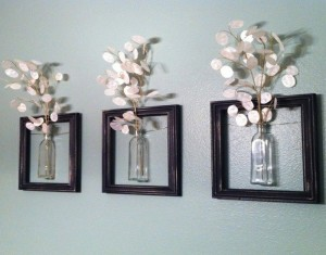 DIY Recycled Old Picture Frame Flower Art Home Decor